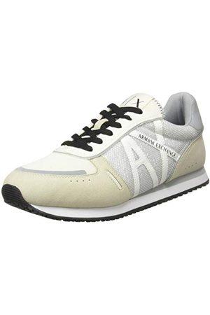 Armani Exchange Rio Retro Running, Sneaker Femme, Grey+Off White, 40 EU