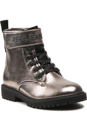 Pepe Jeans Bottes - Hatton Strap Metal PGS50168 Silver 934