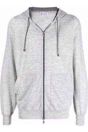 Brunello Cucinelli Homme Sweats zippés - Hoodie zippé en laine