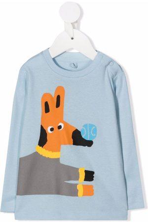 Stella McCartney Garçon Tops & T-shirts - Cartoon-print long-sleeve top