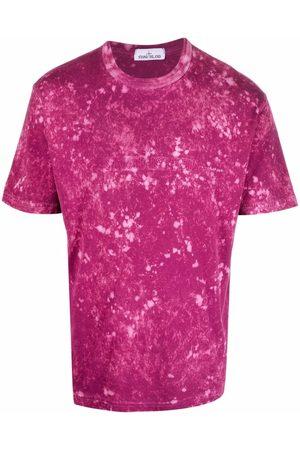 Stone Island T-shirt à effet taches de peinture