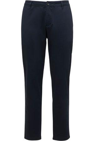 Armani Pantalon En Twill De Coton Stretch
