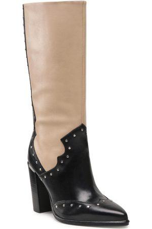 Bronx Femme Bottes - Bottes - 14235-A Black/Camel 738