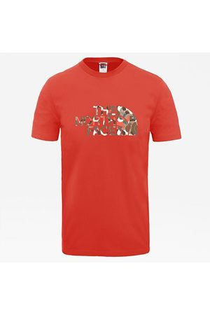 The North Face T-shirt New Peak Pour Homme Flare/pinecone Brown Big Abstract Print Taille L