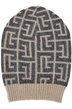 Balmain Bonnet en laine et mohair mélangés