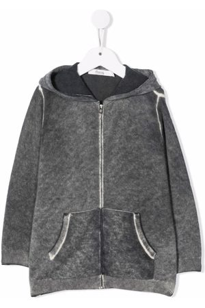 BONPOINT Washed-effect zipped hoodie