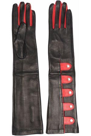 Manokhi Gants longs bicolores