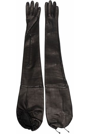 Manokhi Gants longs en cuir