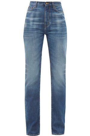 Saint Laurent Femme Taille haute - Jean ample taille haute