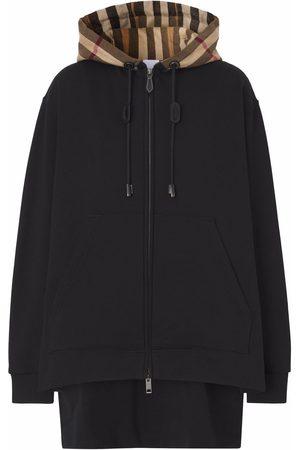 Burberry Femme Sweatshirts - Hoodie à capuche contrastante