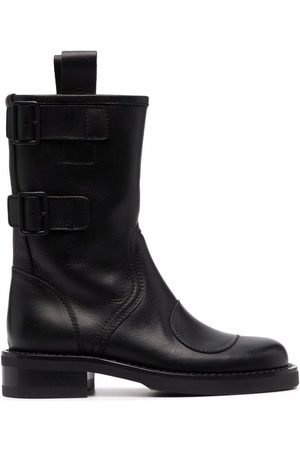 Buttero Side-buckle ankle-length boots