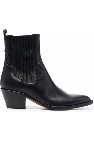 Buttero Pointed ankle-length boots