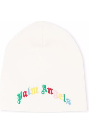 Palm Angels CLASSIC LOGO BEANIE WHITE MULTICOLOR
