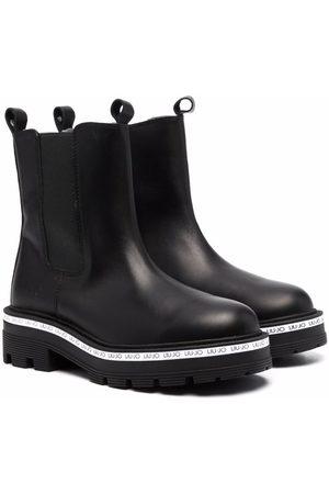 Liu Jo Tailor logo-trim leather Chelsea boots
