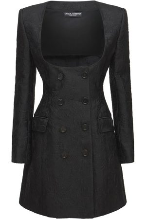 Dolce & Gabbana Robe Blazer En Tweed De Coton Jacquard