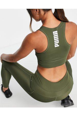 PUMA Active Essentials - Crop top à logo - Olive