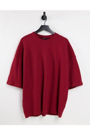 ASOS T-shirt d'ensemble gaufré oversize - foncé