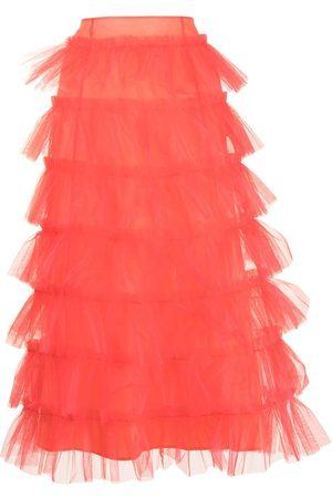 Molly Goddard Femme Jupes plissées - Jupe taille-haute bordée de tulle