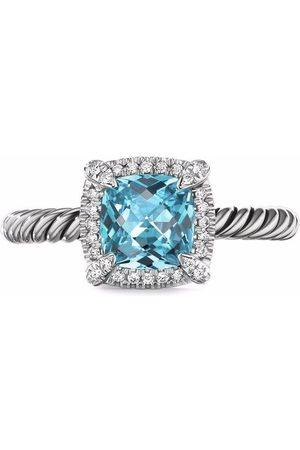 David Yurman Bague Châtelaine en sterling ornée de topaze et diamants