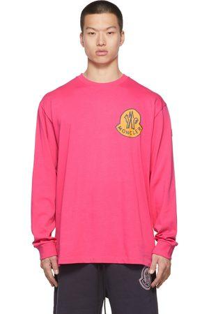 Moncler Genius T-shirt à manches longues rose à logo 2 Moncler 1952