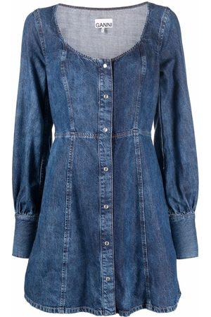Ganni Robe en jean à design sans manches
