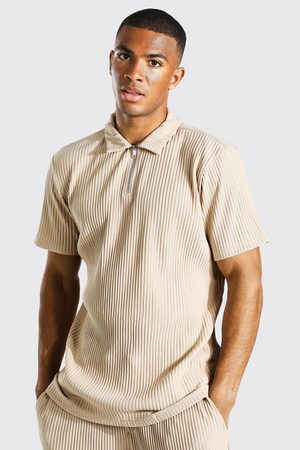 Boohoo Homme Polos - Polo à col zippé effet plissé Homme