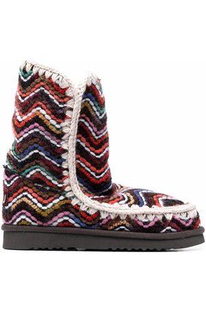 Mou Zigzag pattern boots