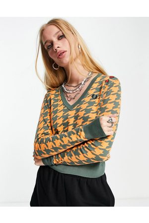 Fred Perry X Amy Winehouse - Pull motif pied-de-poule