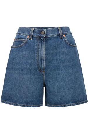 Gucci Short En Denim Taille Haute