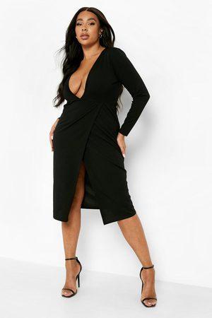 Boohoo Femme Robes midi - Grande Taille