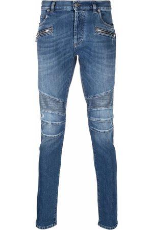 Balmain Slim-fit ribbed jeans