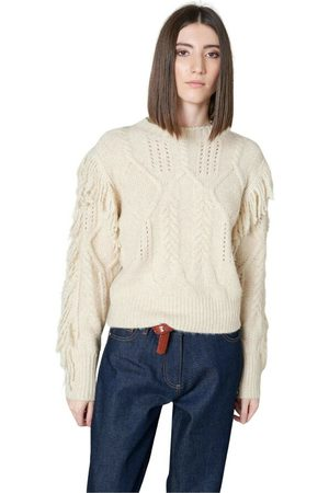 Silvian Heach Maglione Dettaglio Frange , Femme, Taille: 2XS