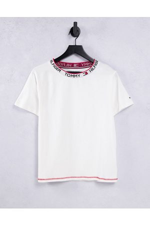 Tommy Hilfiger Femme Manches courtes - T-shirt rétro classique à manches courtes