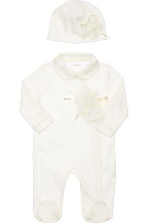 La Perla Fille Bonnets - Bonnet & Barboteuse En Coton Interlock