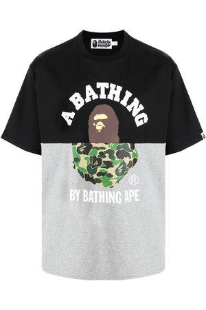 A Bathing Ape T-shirt colour block à logo imprimé