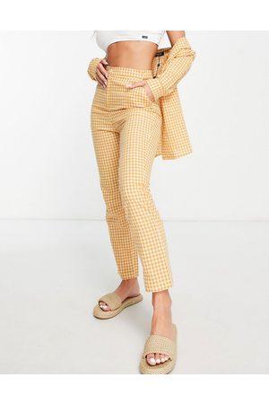 Fashion Union Exclusivité - Pantalon habillé d'ensemble à carreaux vichy