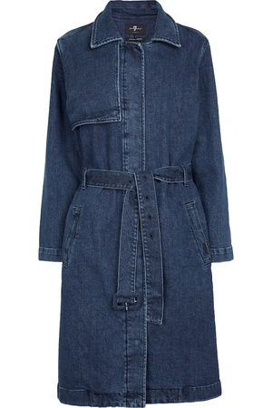 7 for all Mankind Trench-coat Ever Blue en jean