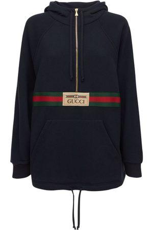 Gucci Mini-robe Sweat En Jersey De Coton Feutré