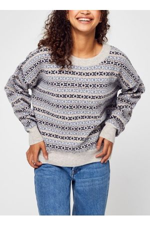 Knowledge Cotton Apparal Femme MYRTHE Lambswool Pattern Boxy Crew Neck - GOTS par