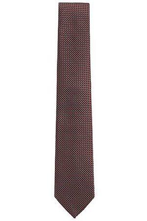 HUGO BOSS Cravate en jacquard de soie à micro motif