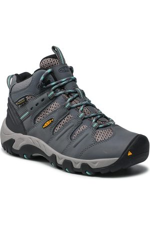 Keen Femme Chaussures - Chaussures de trekking - Koven Mid Wp 1020212 Steel Grey/Wasabi