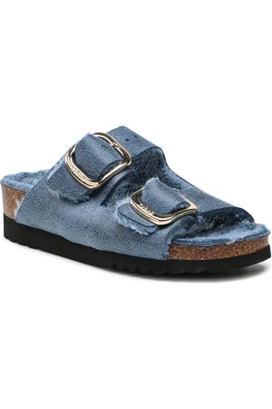 Scholl Chaussons - Ilary Fluffy F29534 1007 350 Blue