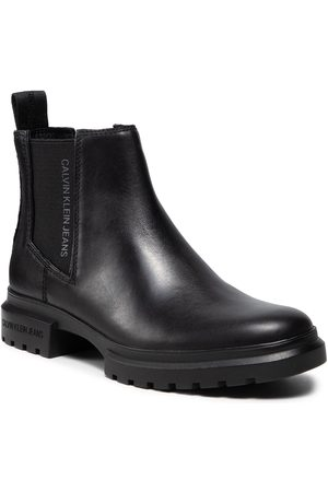 Calvin Klein Bottines Chelsea - Cleated Mid Chelsea Boot YW0YW00421 Black BEH