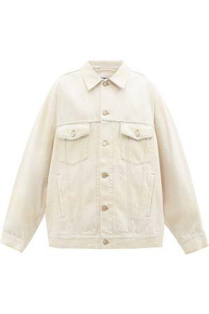 Balenciaga Vestes en jean - Veste en denim effet vieilli à empiècement logo