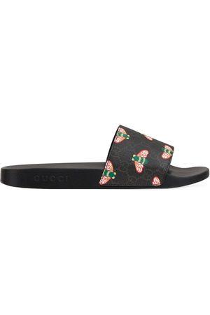 Gucci Homme Sandales - Bee Print Slide Sandals