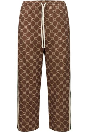 Gucci Femme Pantalons classiques - Technical Jersey Logo Casual Pants