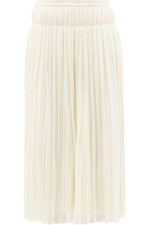 Chloé Jupe midi plissée taille haute en laine mélangée
