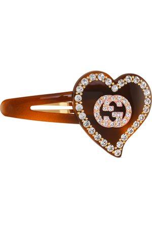 Gucci Barrette avec détail GG et cœur