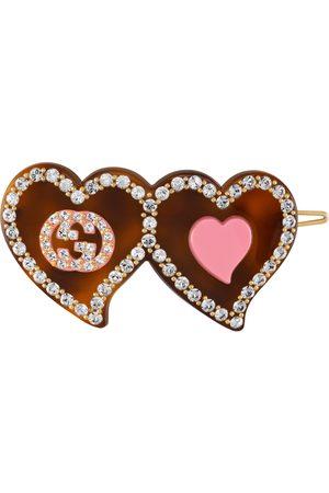 Gucci Barrette avec détail GG et cœurs