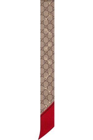 Gucci Nœud de cou en soie à imprimé GG avec motif Mors
